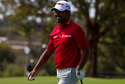 November 15, 2018 - Sydney, NSW, U.S. - SYDNEY, AUSTRALIA - NOVEMBER 15: Anirban Lahiri (IND) all smiles after chipping in from the rough at Day 1 of The Emirates Australian Open Golf on November 15, 2019, at The Lakes Golf Club in Sydney, Australia. (Photo by Speed Media/Icon Sportswire) (Credit Image: © Speed Media/Icon SMI via ZUMA Press)