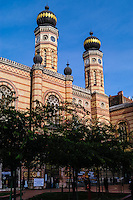 Budapest, Hungary.  The Dohány Street Synagogue.