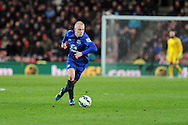Steven Naismith of Everton in action. Barclays Premier League match, Stoke city v Everton at the Britannia Stadium in Stoke on Trent , Staffs on Wed 4th March 2015.<br /> pic by Andrew Orchard, Andrew Orchard sports photography.