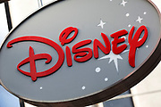 Sign for the Disney store.