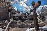 Stations of the Cross at the Shrine of St. Joseph in Yarnell, Arizona, damaged in the Yarnell Hill Fire, July, 2013.