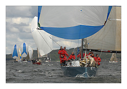 Sailing - The 2007 Bell Lawrie Scottish Series hosted by the Clyde Cruising Club, Tarbert, Loch Fyne..The final days racing had cold steady Northerly breeze to decide the overall placings..Sail Scotland and Class two winner Blondie IRL3008.