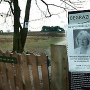 Poster bij de Goede Gooier heide Blaricum vermiste Mw. Wendela Hagedoorn - van der Poel uit Huizen