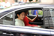 De Japanse prins Akishino , prinses Kiko Prins Constantijn en Prinses Laurentien komen aan op het binnenhof<br /> <br /> Op de foto: Prinses Laurentien en prinses Kiko