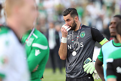 May 20, 2018 - Lisbon, Portugal - Sporting's goalkeeper Rui Patricio from Portugal cries after losing the Portugal Cup Final football match CD Aves vs Sporting CP at the Jamor stadium in Oeiras, outskirts of Lisbon, on May 20, 2015. (Credit Image: © Pedro Fiuza/NurPhoto via ZUMA Press)