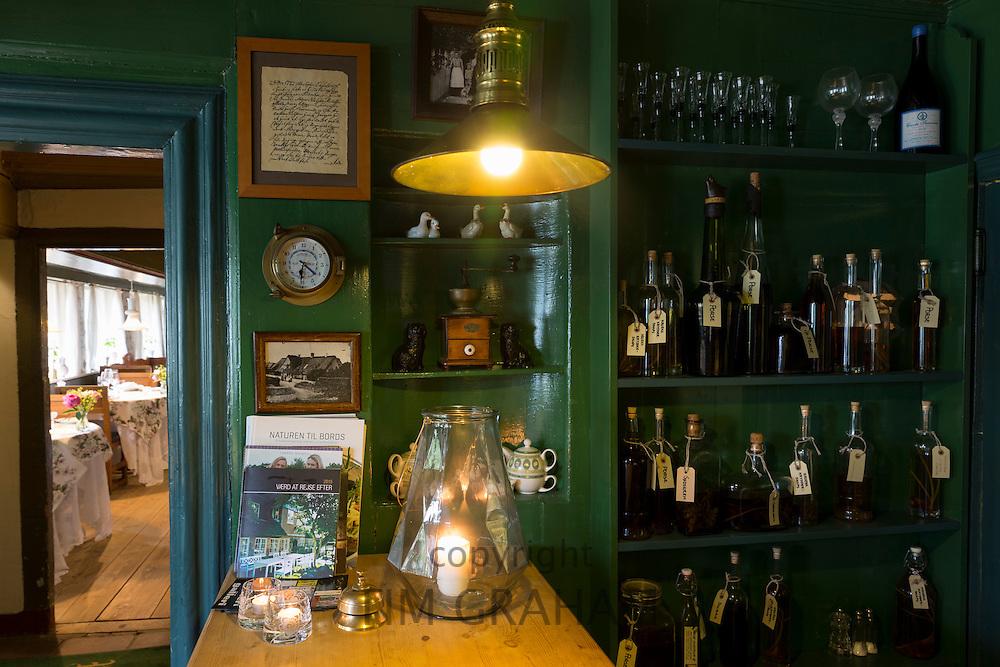 Sonderho Hotel and Restaurant with quaint furniture on Fano Island, South Jutland, Denmark