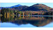Lake Placid in the Adirondack Mountains of New York State, USA