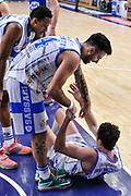 DESCRIZIONE : Campionato 2014/15 Serie A Beko Dinamo Banco di Sardegna Sassari - Acqua Vitasnella Cantu'<br /> GIOCATORE : Giacomo Devecchi Brian Sacchetti<br /> CATEGORIA : Fair Play<br /> SQUADRA : Dinamo Banco di Sardegna Sassari<br /> EVENTO : LegaBasket Serie A Beko 2014/2015<br /> GARA : Dinamo Banco di Sardegna Sassari - Acqua Vitasnella Cantu'<br /> DATA : 28/02/2015<br /> SPORT : Pallacanestro <br /> AUTORE : Agenzia Ciamillo-Castoria/L.Canu<br /> Galleria : LegaBasket Serie A Beko 2014/2015
