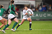 England player Kelly Smith looks for room in the first half  during the Women's 6 Nations match between Ireland Women and England Women at Energia Park, Dublin, Ireland on 1 February 2019.