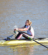 Boston, Great Britain. Women's Single Scull GBR W1X . Victoria MEYER-LAKER,  compete's in the 2013 GBRowing second assessment, Boston Rowing Club, River Witham, Lincolnshire.    Saturday  09/02/2013   [Mandatory Credit. Peter Spurrier/Intersport Images]