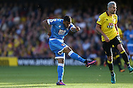 GOAL - Josh King of Bournemouth shoots to score his sides 2nd goal .  Premier league match, Watford v AFC Bournemouth at Vicarage Road in Watford, London on Saturday 1st October 2016.<br /> pic by John Patrick Fletcher, Andrew Orchard sports photography.