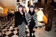 JESSICA MORRIS; JAMES BROWN, Unveiling of the Dior Christmas Tree by John Galliano at Claridge's. London. 1 December 2009 *** Local Caption *** -DO NOT ARCHIVE-© Copyright Photograph by Dafydd Jones. 248 Clapham Rd. London SW9 0PZ. Tel 0207 820 0771. www.dafjones.com.<br /> JESSICA MORRIS; JAMES BROWN, Unveiling of the Dior Christmas Tree by John Galliano at Claridge's. London. 1 December 2009