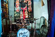 Montreux, juin 2019. Balade sur les traces de Freddie Mercury à Montreux qui accueille le Jazz Montreux Festival.  l'intérieur du chalet. Le kimono de Freddie Mercury utilisé sur scène. © Olivier Vogelsang
