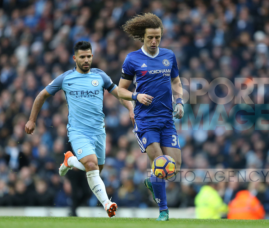David Luiz of Chelsea during the Premier League match at the Etihad Stadium, Manchester. Picture date: December 3rd, 2016. Pic Simon Bellis/Sportimage