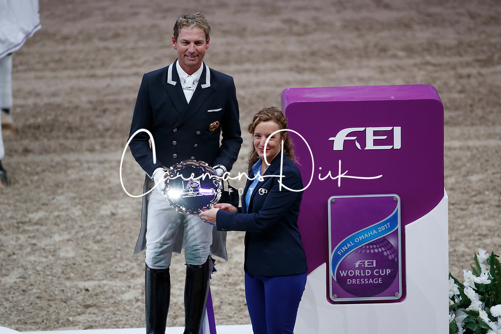 Hester Carl, GBR<br /> Grand Prix Freestyle<br /> FEI World Cup Dressage Final, Omaha 2017 <br /> © Hippo Foto - Dirk Caremans<br /> 01/04/2017