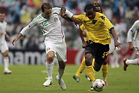 MEXICO () vs. JAMAICA () in their World Cup 2010 qualifying soccer match in Mexico D.F., September 6, 2008<br /> Here Matias Vuoso and Ian Goodison<br /> © PikoPress
