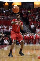 14 February 2016: Donte Thomas during the Illinois State Redbirds v Bradley Braves at Redbird Arena in Normal Illinois (Photo by Alan Look)