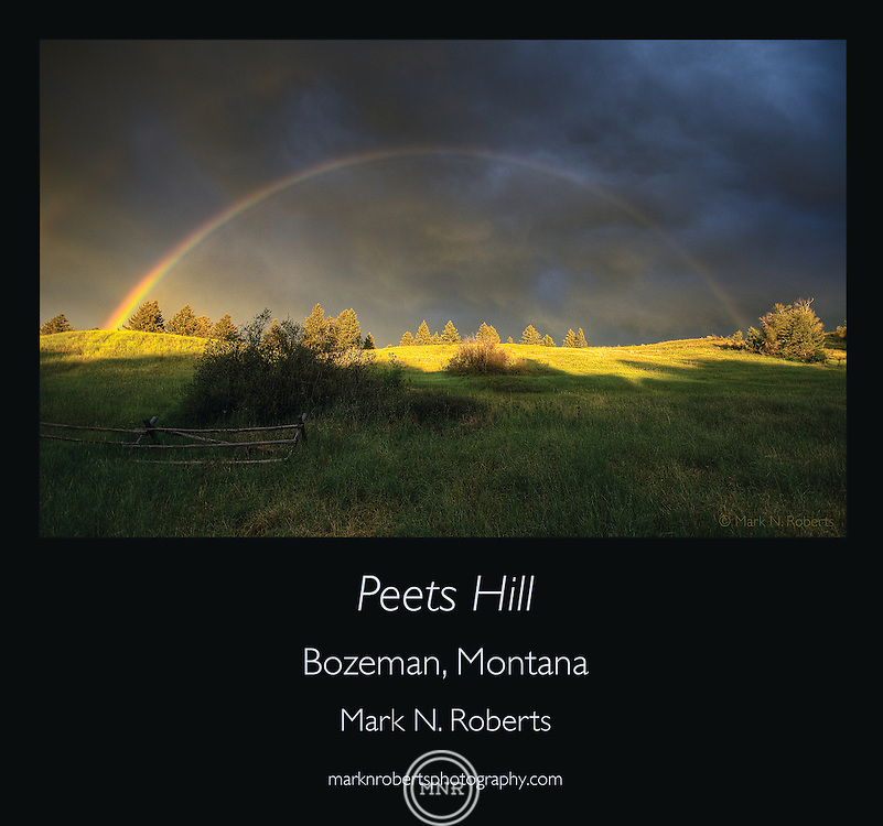 A Rainbow over Peets Hill in Bozeman, Montana.