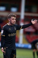 Oldham Athletics Alfie McCalmont during the EFL Sky Bet League 2 match between Walsall and Oldham Athletic at the Banks's Stadium, Walsall, England on 16 January 2021.