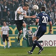 Besiktas's Filip Holosko (L) during their UEFA Europa League Group Stage Group E soccer match Besiktas between Stoke City at Inonu stadium in Istanbul Turkey on Wednesday December 14, 2011. Photo by TURKPIX
