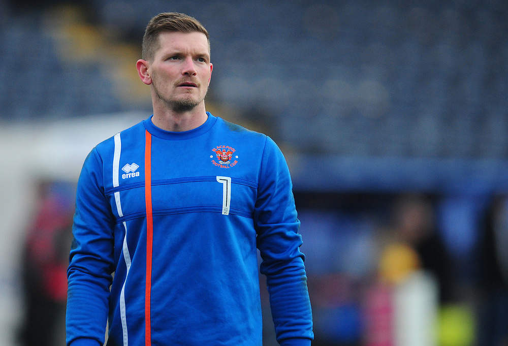 Blackpool's Ben Williams during the pre-match warm-up <br /> <br /> Photographer Kevin Barnes/CameraSport<br /> <br /> The EFL Sky Bet League One - Shrewsbury Town v Blackpool - Saturday 16th December 2017 - New Meadow - Shrewsbury<br /> <br /> World Copyright © 2017 CameraSport. All rights reserved. 43 Linden Ave. Countesthorpe. Leicester. England. LE8 5PG - Tel: +44 (0) 116 277 4147 - admin@camerasport.com - www.camerasport.com