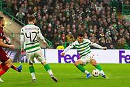 GOAL! Celtic double their lead through a Mohamed Elyounoussi strike from just inside the box during the Europa League match between Celtic and CFR Cluj at Celtic Park, Glasgow, Scotland on 3 October 2019.