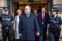 Alex Salmond leaves the High Court.