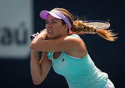 March 24, 2019 - Miami, FLORIDA, USA - Danielle Collins of the United States in action during her third-round match at the 2019 Miami Open WTA Premier Mandatory tennis tournament (Credit Image: © AFP7 via ZUMA Wire)