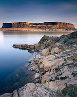 Steamboat Rock and Banks Lake of Grand Coulee Washington USA