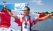 Poznan, POLAND, 23rd June 2019, Sunday, CAN W1X, Bronze Medalist Carling ZEEMAN, FISA World Rowing Cup II, Malta Lake Course, © Peter SPURRIER/Intersport Images, <br /> <br /> <br /> 14:45:24