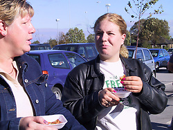 Its Rosti Tasting time for the customers of  Asda at Handsworth in Sheffield as the McCaine roadshow rolled into town on Tuesday morning Oct 11 2001