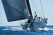 Bermuda, 14th June 2017. America's Cup Superyacht regatta. Race two. Leopard GBR-1R