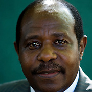 EDINBURGH, SCOTLAND - AUGUST24. Paul Rusesabagina poses during a portrait session held at Edinburgh Book Festival on August 24, 2006  in Edinburgh, Scotland. (Photo by Marco Secchi/Getty Images).