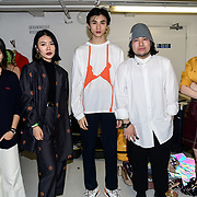 Designer of Ying Sheng Education Backstate at Fashion Scout - SS19 Day 3, on 15 September 2019, London, UK