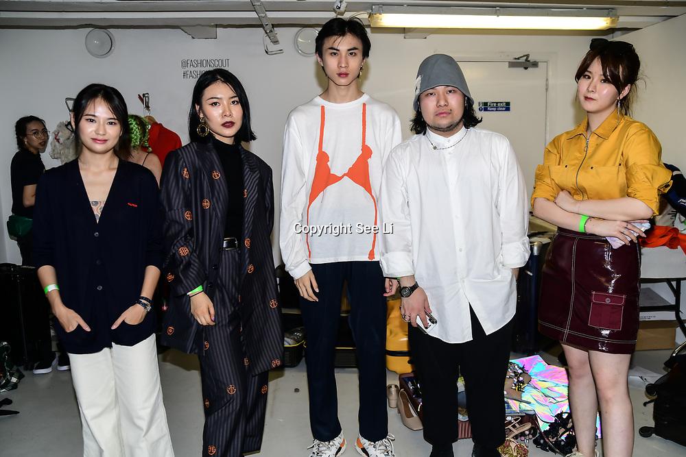Designer of Ying Sheng Education Backstate at Fashion Scout - SS19 Day 3, on 15 September 2019, London, UK