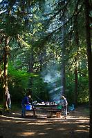 Salmon Creek Falls campground. Oakridge, Oregon.
