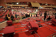 Sumo wrestling event Ryogoky stadium Tokyo end of the day