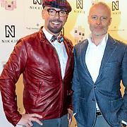 NLD/Amsterdam/20130205 - Modeshow Nikki Plessen 2013, Maik de Boer en Mart Visser