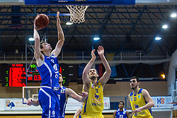 Sebic Milan of KK Tajfun Sentjur and Pavic Smiljan of KK Sencur GGD during basketball match between KK Sencur  GGD and KK Tajfun Sentjur for Spar cup 2016, on 16th of February , 2016 in Sencur, Sencur Sports hall, Slovenia. Photo by Grega Valancic / Sportida.com