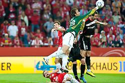 28.07.2011, Coface Arena, Mainz, GER, UEFA Europa League, Mainz 05 vs CS Gaz Metan Medias, im Bild Heinz Mueller (Mainz #33) faustet den Ball  // during the GER, UEFA Europa League, Mainz 05 vs CS Gaz Metan Medias on 2011/07/28, Coface Arena, Mainz, Germany. EXPA Pictures © 2011, PhotoCredit: EXPA/ nph/  Roth       ****** out of GER / CRO  / BEL ******