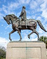 statue of Wade Hampton, Confederate Officer, slave owner, politician, Governor, Columbia, South Carolina