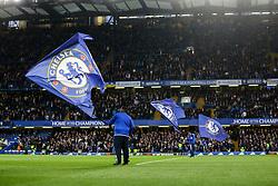 Chelsea flags fly at Stamford Bridge - Mandatory by-line: Jason Brown/JMP - 15/05/2017 - FOOTBALL - Stamford Bridge - London, England - Chelsea v Watford - Premier League