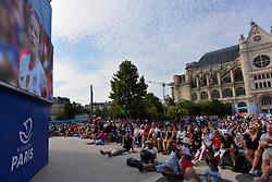 July 7, 2019 - Paris, France - The fans came to see the Women's World Cup 2019 in France Final match between the United States of America and the Netherlands in front of the Fan's big screen FIFA Experience in Paris - 07 July 2019 in Paris  (Credit Image: © Daniel Pier/NurPhoto via ZUMA Press)