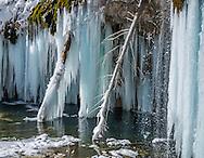 Hanging Lake in winter near Glenwood Springs, Colorado.