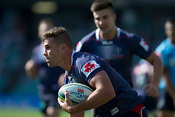 March 17, 2018 - Sydney, NSW, U.S. - SYDNEY, NSW - MARCH 18: Rebels player Jack Maddocks (14) crosses the try line at round 5 of the Super Rugby between Waratahs and Rebels at Allianz Stadium in Sydney on March 18, 2018. (Photo by Speed Media/Icon Sportswire) (Credit Image: © Speed Media/Icon SMI via ZUMA Press)