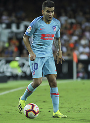 August 20, 2018 - Correa of Atletico de Madrid in action during the spanish league, La Liga, football match between ValenciaCF and Atletico de Madrid on August 20, 2018 at Mestalla stadium in Valencia, Spain. (Credit Image: © AFP7 via ZUMA Wire)