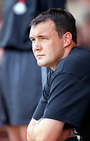 Wes Saunders the Manager of Torquay. Kidderminater Harriers v Torquay United. League Division Three, 12/8/00. Credit Colorsport / Nick Kidd.