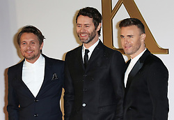 © Licensed to London News Pictures. 14/01/2015, UK. Take That, Mark Owen, Howard Donald, Gary Barlow Kingsman: The Secret Service - World Film Premiere, Leicester Square, London UK, 14 January 2015, Photo credit : Richard Goldschmidt/Piqtured/LNP