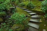 Steps at the Portland Japanese Garden, Portland, Oregon
