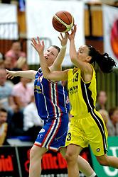 20-05-2006 BASKETBAL: FINALE PLAYOFF BINNENLAND - YELLOW BIKE: BARENDRECHT<br /> Yellow Bike verslaat Binnenland in eigenhuis en neemt nu een 3-1 voorsprong in de serie best of seven / Romy Calderon en Linda Appers<br /> ©2006-WWW.FOTOHOOGENDOORN.NL